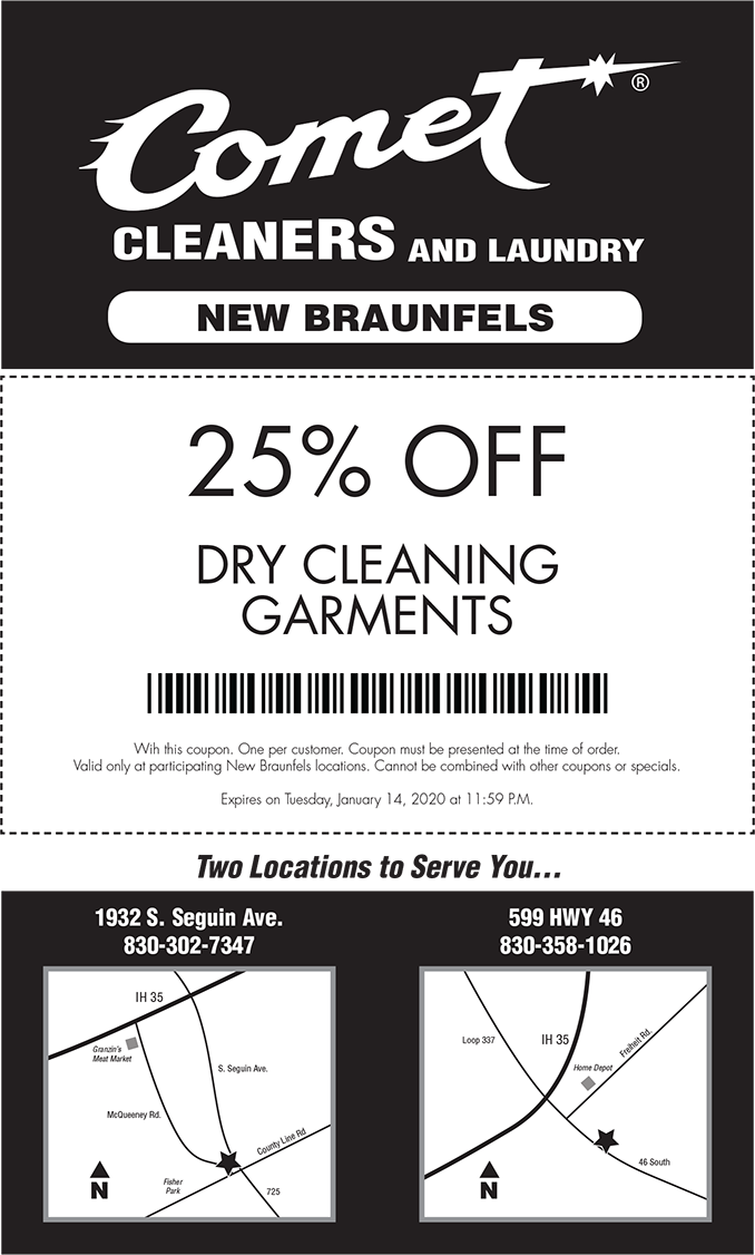 Comet Cleaners - 25% Off Coupon
